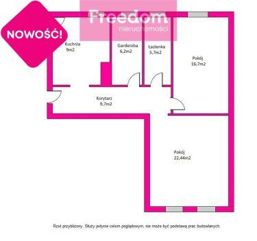 Atrakcyjne 3 pokojowe mieszkanie w Zabrzu 74,7m2