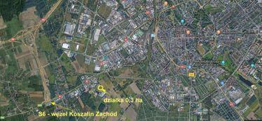 Działka przemysłowa i usługowa, 0,3 ha, Koszalin