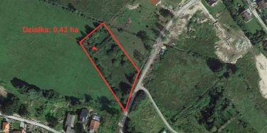Działka z WZ 0,43 ha Konikowo, 3 km od Koszalina.