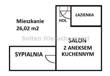 Warszawa Śródmieście, 399 000 zł, 26.02 m2, w bloku