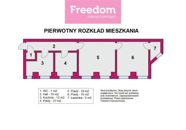 Przestronne mieszkanie w kamienicy w centrum Łodzi