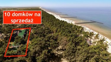 30 m do plaży i morza - 10 domków w lesie