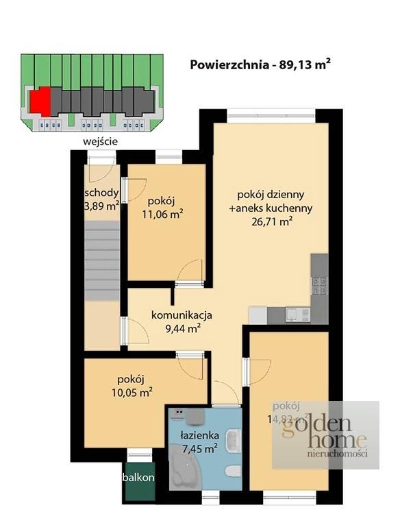 Poznań Strzeszyn, 605 000 zł, 89.13 m2, pietro 1 miniaturka 9