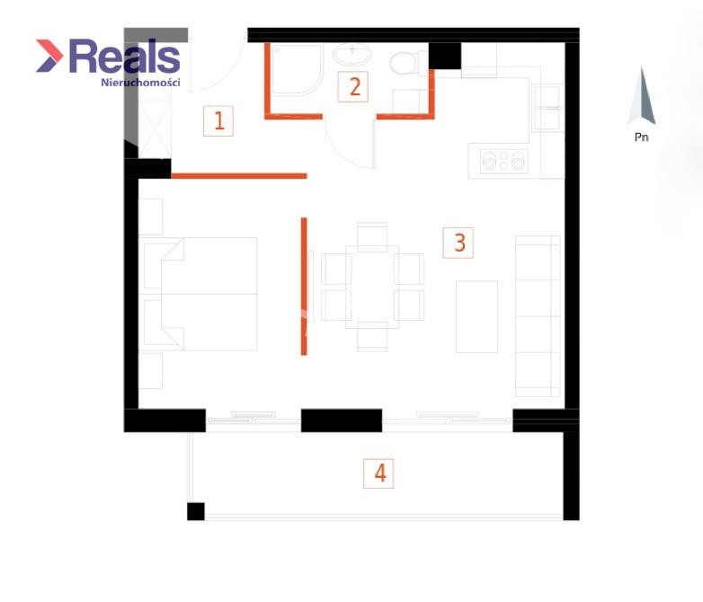 2-pokojowe mieszkanie z dużym balkonem miniaturka 1