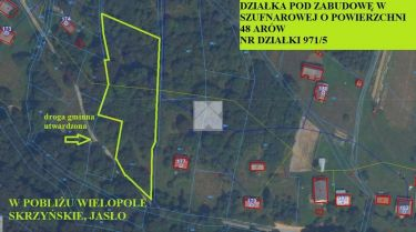 SZUFNAROWA- działka o pow. 48 arów pod zabudowę