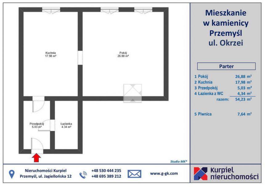 Przemyśl, 189 000 zł, 54.23 m2, kuchnia z oknem miniaturka 13