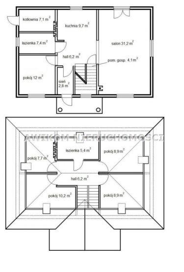 Franciszków, 300 000 zł, 160 m2, z betonu komórkowego
