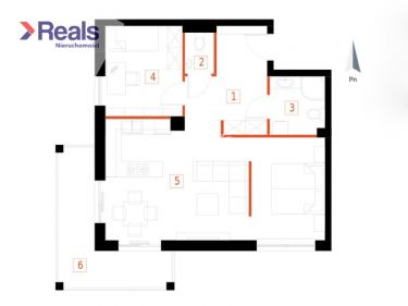 3-pokojowe mieszkanie w stanie deweloperskim